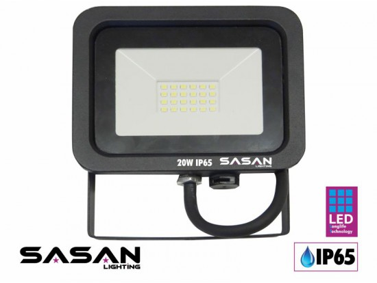 Proyector Led 20W 2.000 Lm Negro